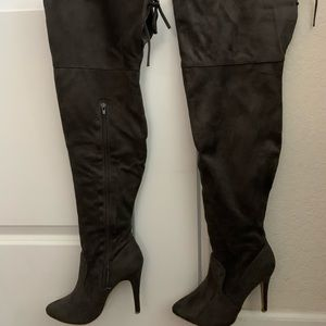 Over the knee high boots with original box